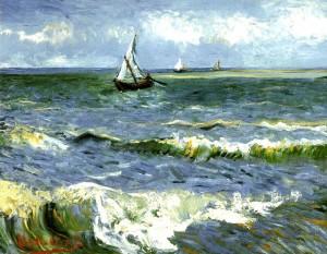 """Van Gogh, """"Les Saintes Maries de la mer"""", 1888"""