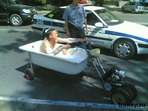 vasca da bagno con le ruote